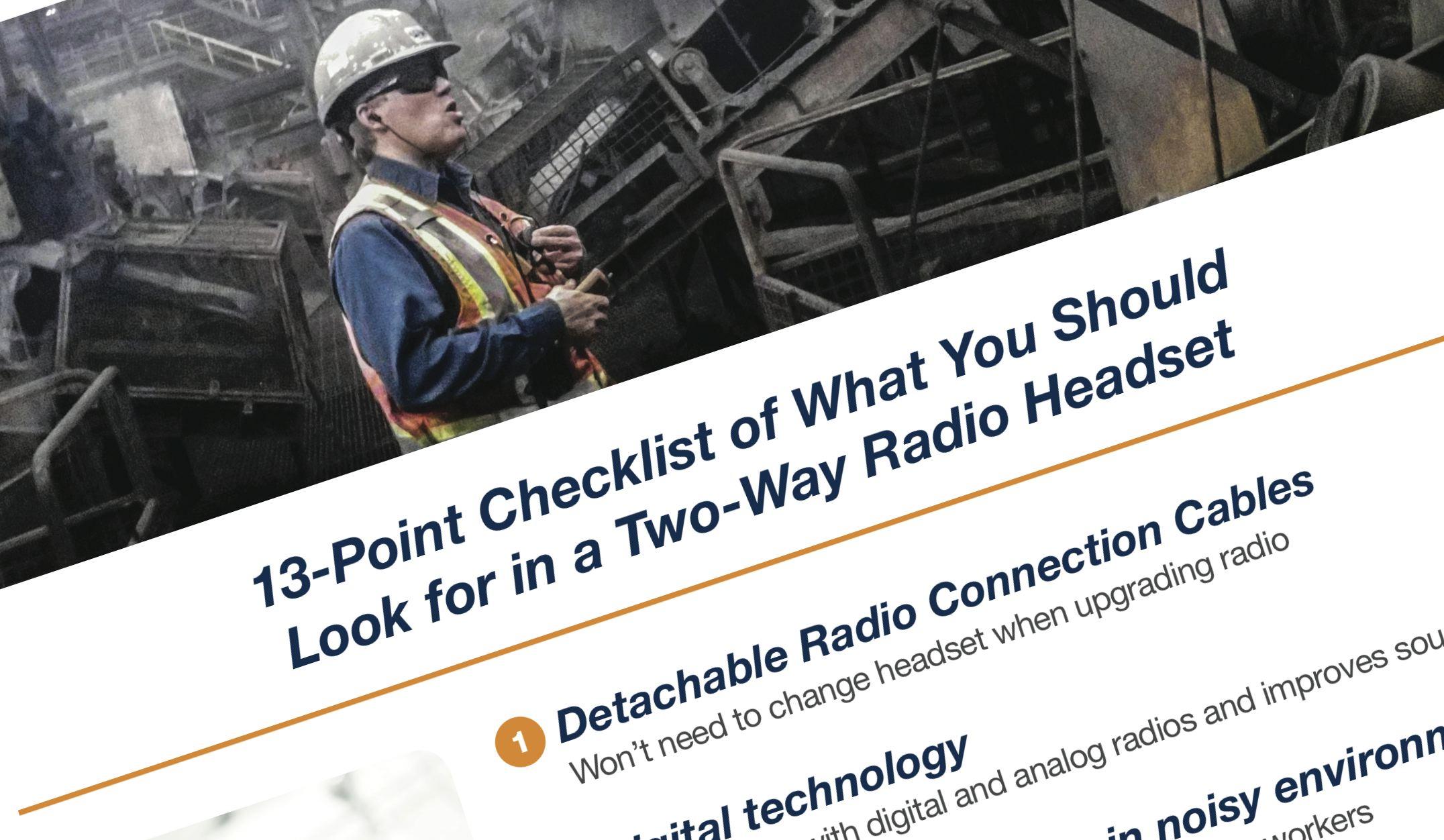 two-way-radio-headset-checklist